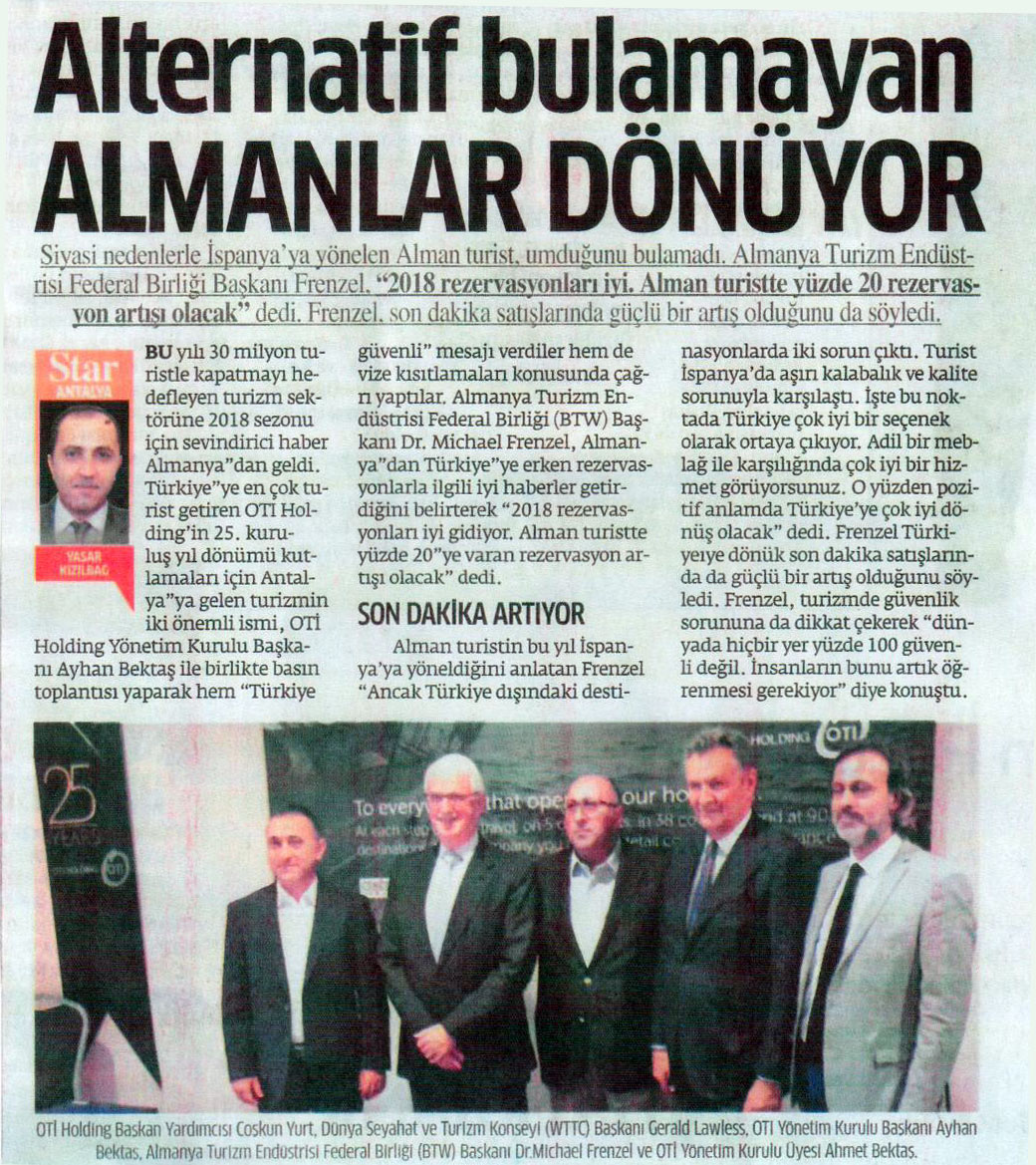 Alternatif Bulamayan ALMANLAR DONUYOR