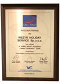 "Part 5. Certificate of Appreciation given to Wezyr Holidays for attending the ""2006- Latam z Katowic (I'm flying from Katowic)"" program. - 2006"