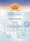 Service Quality Award - Gold Crown  01.12.2003 London ODEON Tours