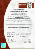 International ISO 9001:2000 Quality certificate  02.10.2001 ODEON Tours